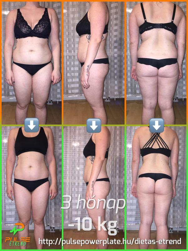 Diétás Étrend Eredmény Fogyás Előtte Utána 3 hónap 10 kg